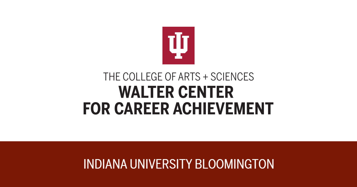 Walter center for career achievement the college of arts sciences indiana university bloomington