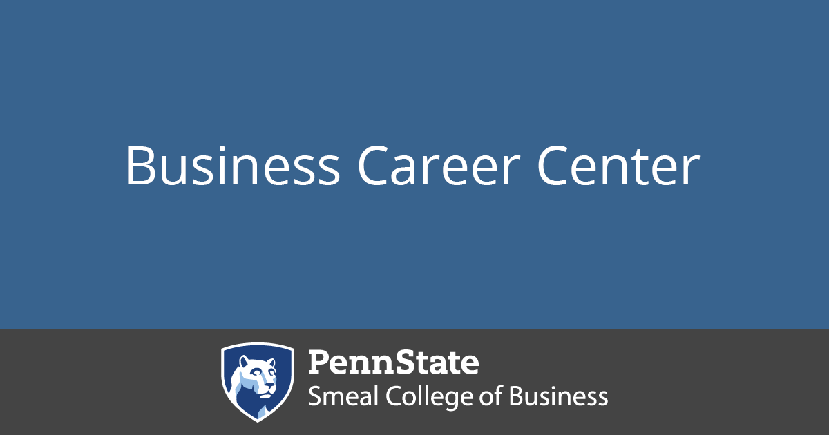 CareerConnections   Smeal College of Business