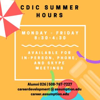 CDIC Summer hours