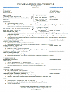 Build a Better Elementary Education Resume