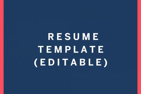 Captivating Resume Template Editable