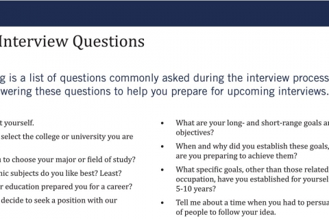 Sample Interview Questions  Sample Interview Questions