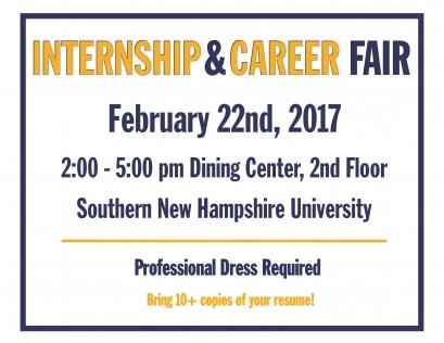 Internship&Career Fair Flyer
