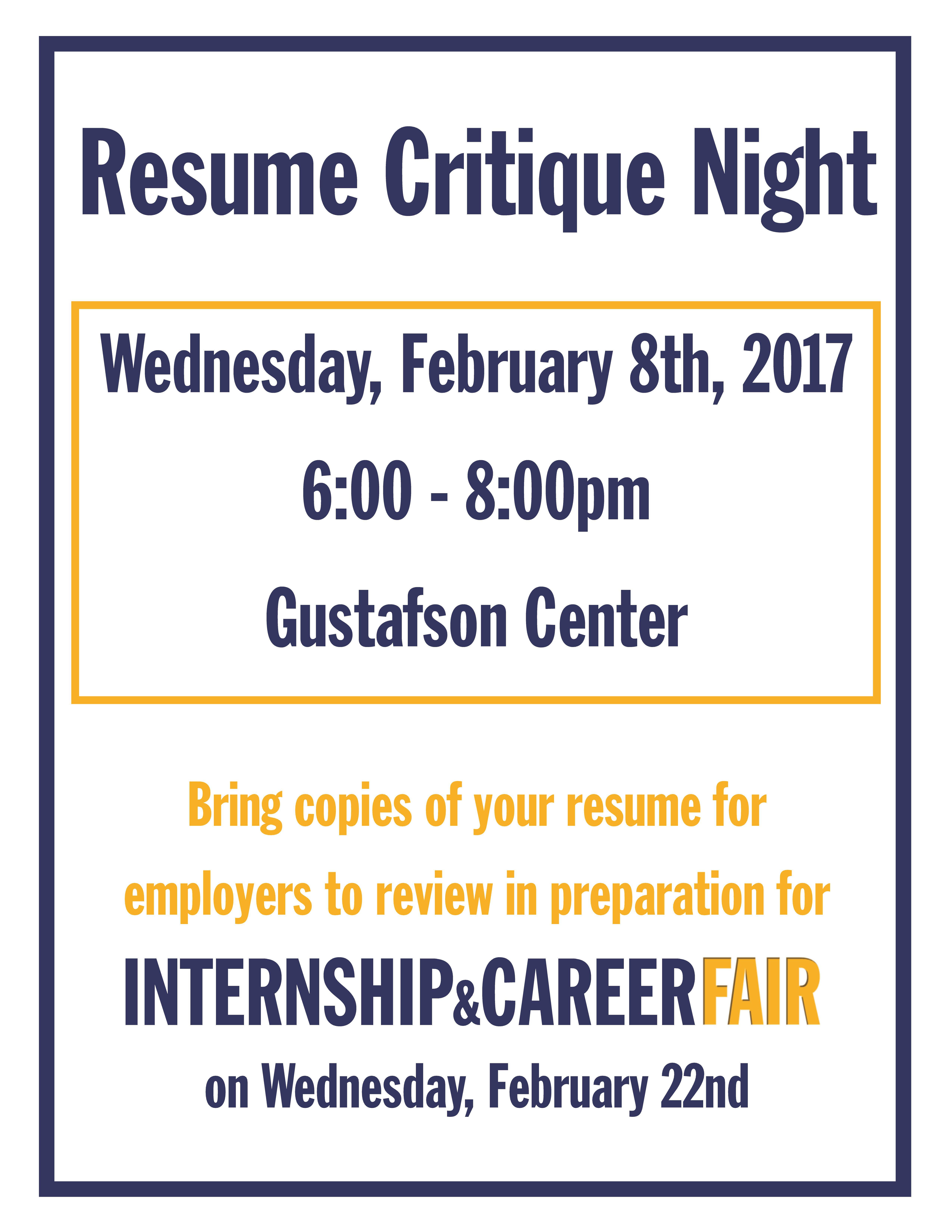 resume critique night feb th careeredge southern new resume critique night feb 8th