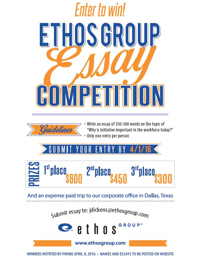 essay competition sponsored by the ethos group ethos essay