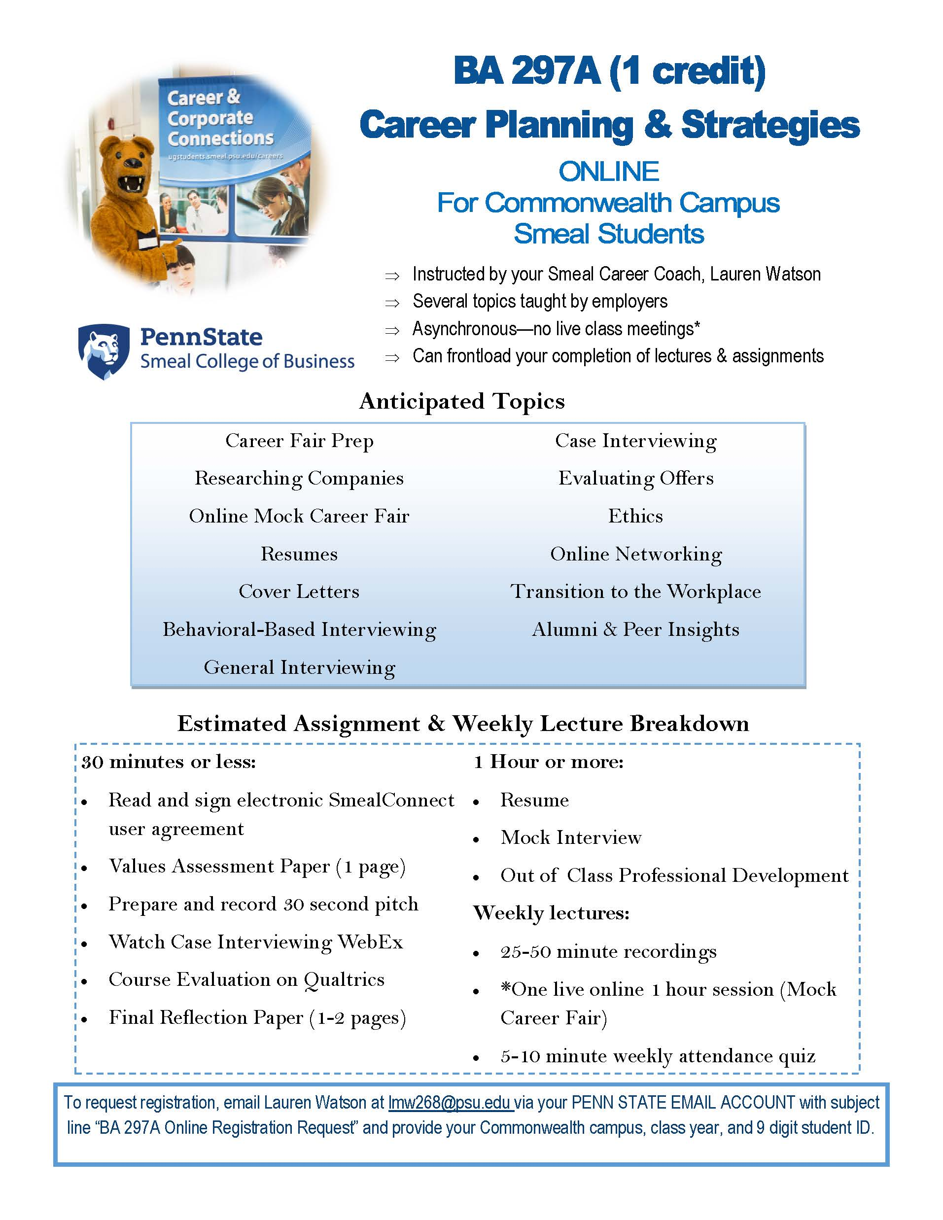 online cr career planning strategies for commonwealth campus fall 2016 ba 297a online promotional flyer