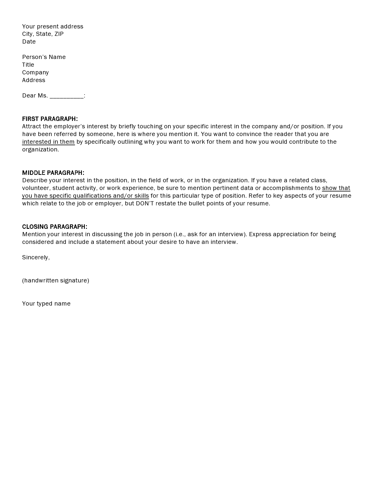 Cover letter format careerconnections smeal college of business madrichimfo Gallery