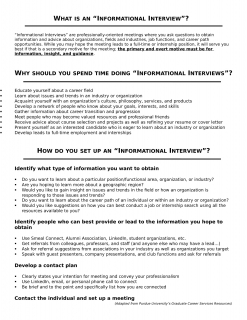 informational interviewing