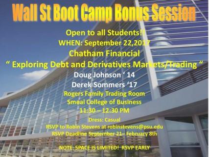 Bonus Boot Camp Chatham Financial