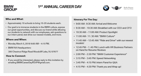 MW Career Day Information