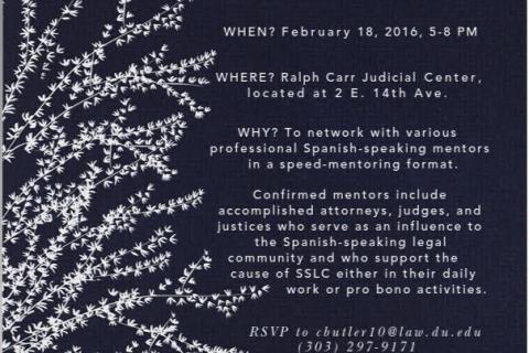 SSLA speed mentor invite