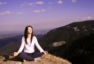 Meditation on the mountain