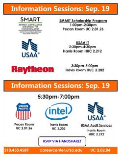 Career Fair Info Sessions
