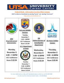 Federal Week Events Fall 2017