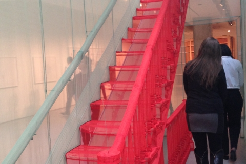 Contemporary Arts Center stairs exhibit