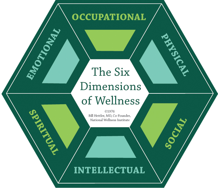 six dimensions of wellness Bourne-hettler wedding sept bill has encouraged people to pursue balanced allocation of time and energy among these six dimensions the wellness definition.