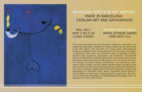 ARTH-A200 MADE IN BARCELONA: CATALAN ART AND NATIONHOOD