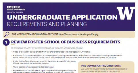 Undergraduate admission to Foster School of Business logo