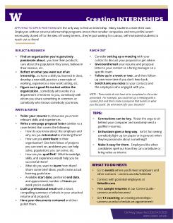 Creating Internships