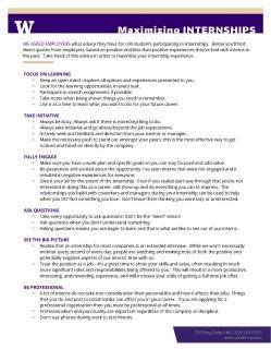 Maximizing Internships