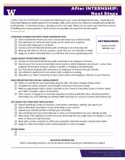 After Internship – Next Steps