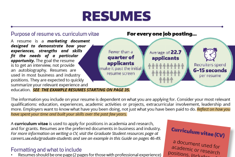Resumes: Tips & Advice