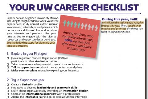 Your UW Career Checklist