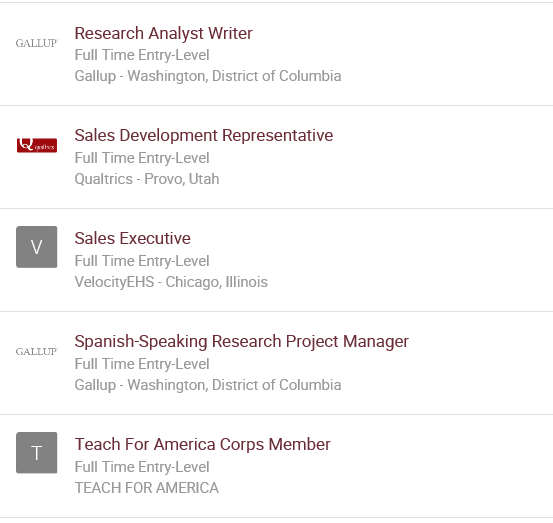 recommended job list 2