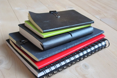 picture of stack of notebooks
