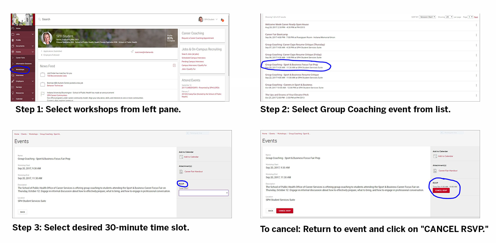 group coaching career expo resume critique office of career