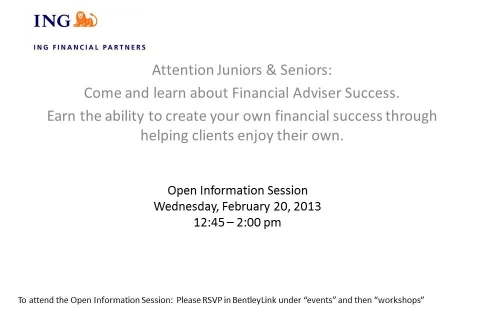 ING FInancial Parterns Information Session
