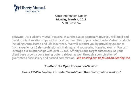 Libert Mutual Information OPEN Info Session