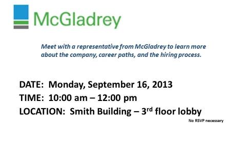 McGladrey Open Event-Table