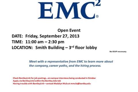 EMC Open Event-Table