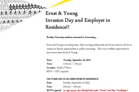Ernst & Young Bentley Invasion Day Flyer 2013