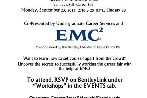 Fall 2013 Career Fair Confidential with EMC flyer