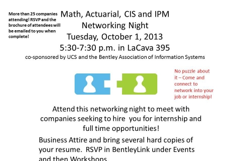 Math Actuarial and CIS flyer