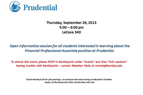 Prudential – Open Info Session