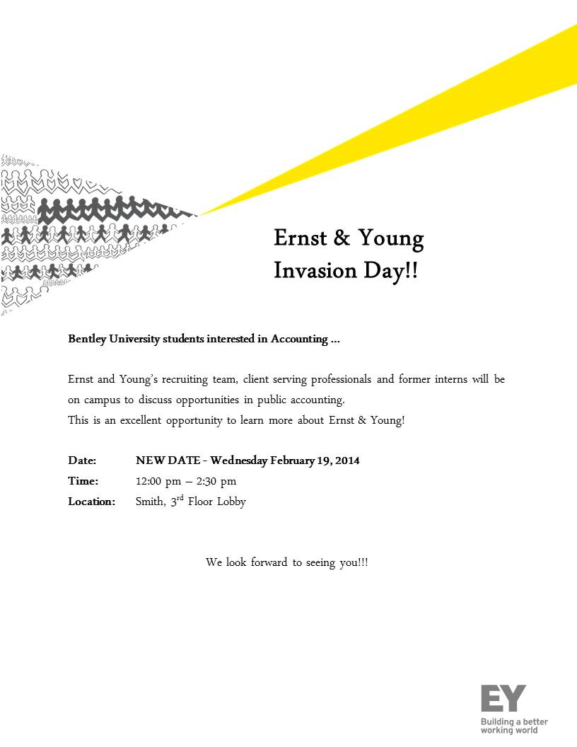 Ernst & Young Spring Invasion Day on 2/19 (NEW DATE) – Bentley ...