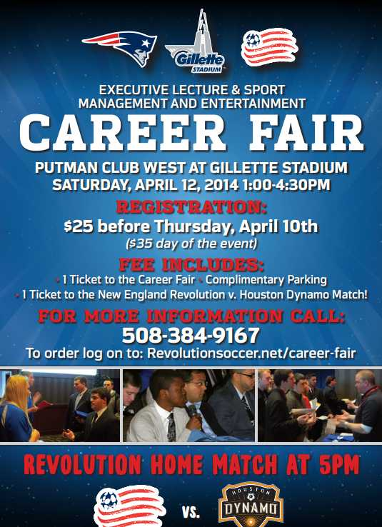 Sports Managment Career Fair At Gillette Stadium On April