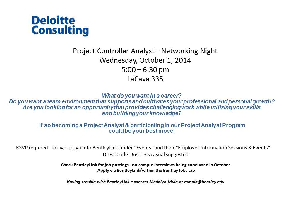 Deloitte Consulting Wants to Know What You Want in a Career – Project Controller