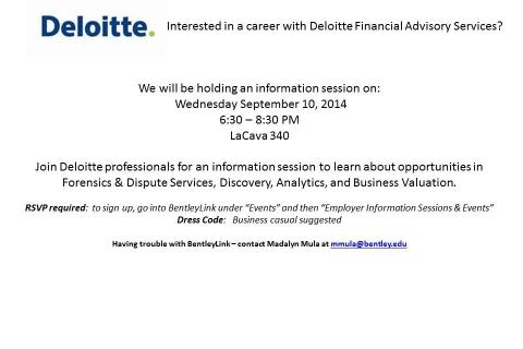 Deloitte – FAS Open Info Session