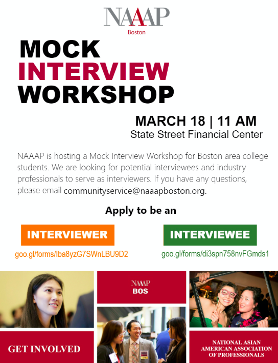 NAAAP Mock Interview Workshop U2014 OFF CAMPUS U2014 DEADLINE 3/1 U2013 Bentley  CareerEdge  Interview Workshop