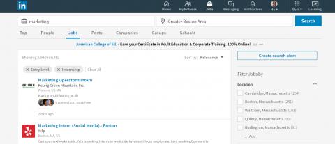 LinkedIn Student Jobs