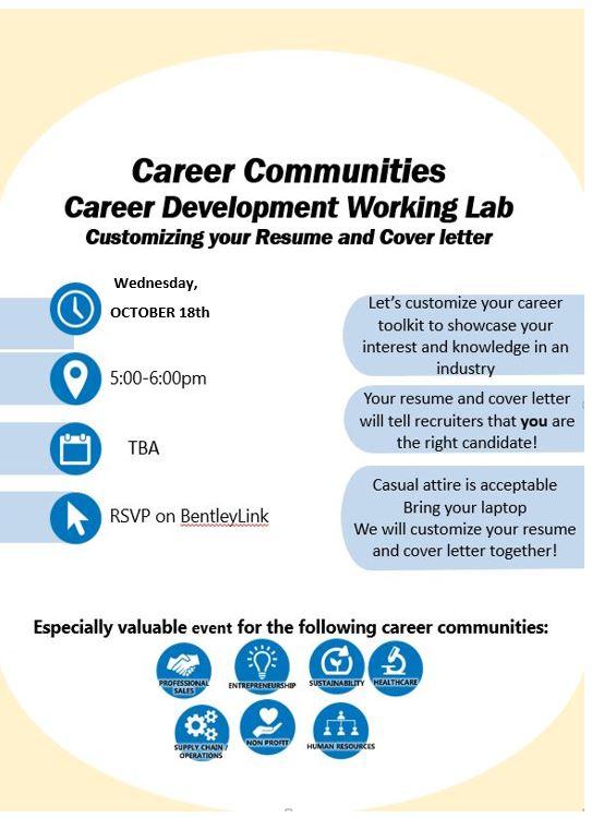Career Communities Career Development WorkshopCustomizing Your