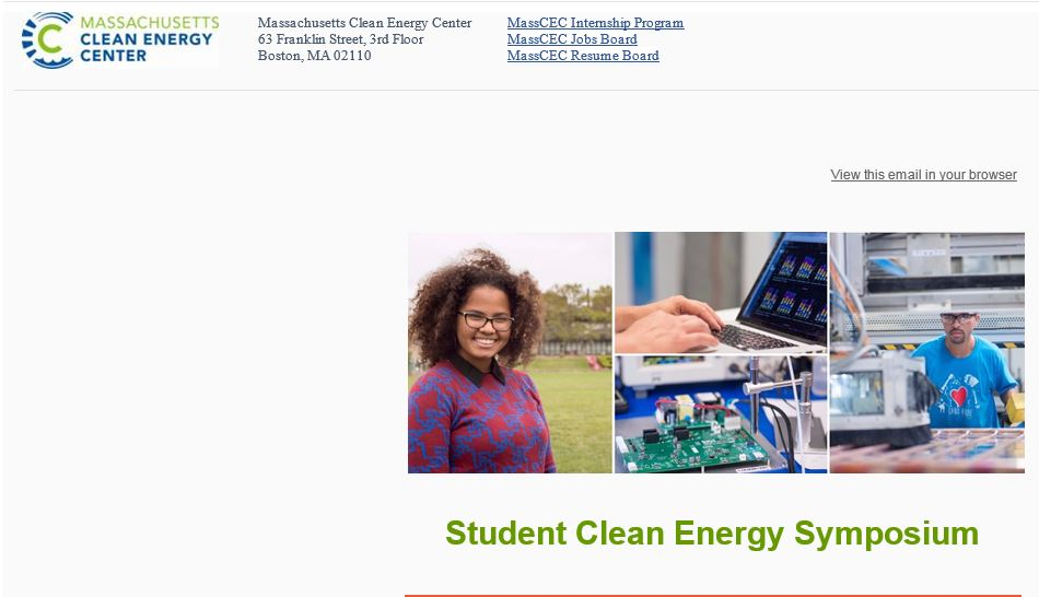Clean Energy Center Symposium: Sept. 29th, 8:30-3:00 at Worcester ...