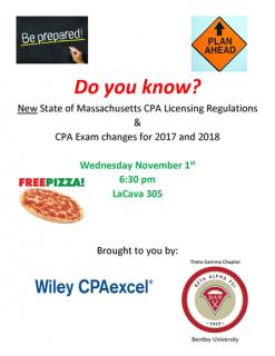CPA Licensing Reg program