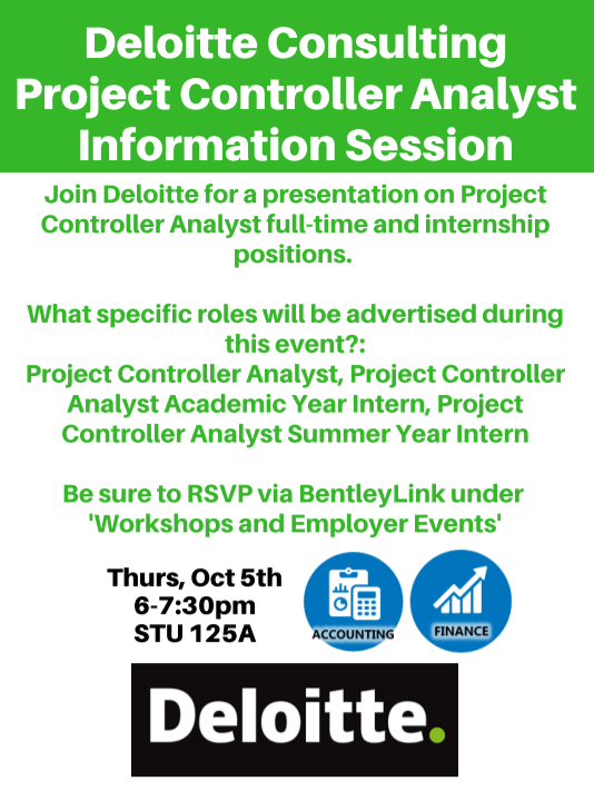 Deloitte Consulting Project Controller Analyst Information Session ...