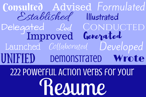 what action verbs should you use on your resume bentley careeredge - Resume Action Verbs