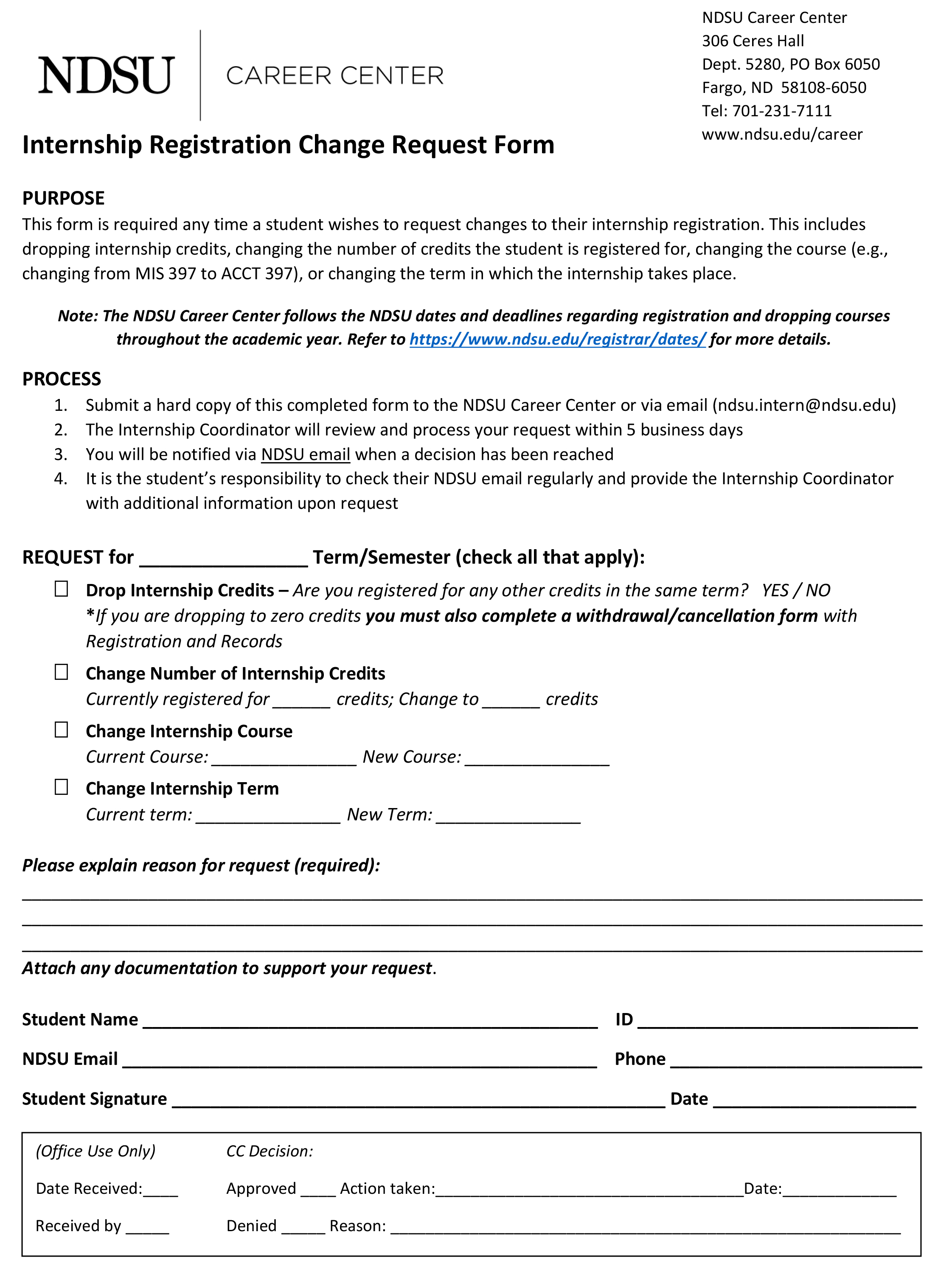 po request form